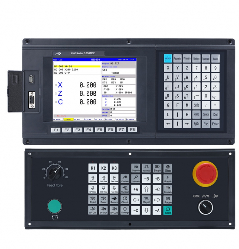 CNC1000TDc-3 3 Axis Updated CNC Lathe & Turnning Controller